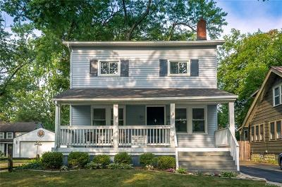 Royal Oak Single Family Home For Sale: 931 N Pleasant Street