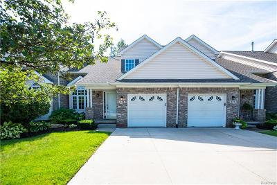 Wixom Condo/Townhouse For Sale: 443 Natures Cove Court