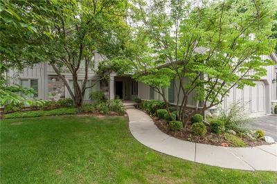 West Bloomfield Twp Condo/Townhouse For Sale: 4752 Morris Lake Circle