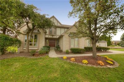 Plymouth Single Family Home For Sale: 49224 Hunt Club Court