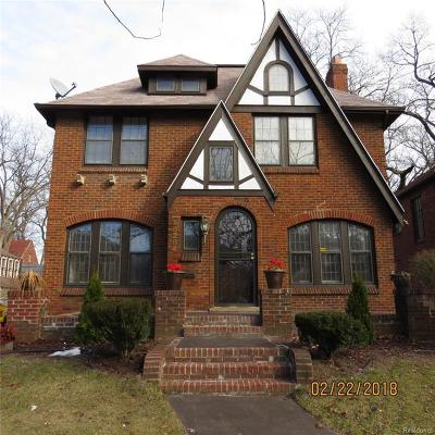 Detroit Single Family Home For Sale: 18284 Muirland Street
