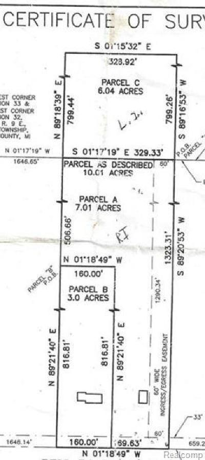 Huron Twp Residential Lots & Land For Sale: Vacant Bell Road