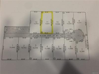 Sterling Heights Residential Lots & Land For Sale: 37934 Ashland Meadows Court