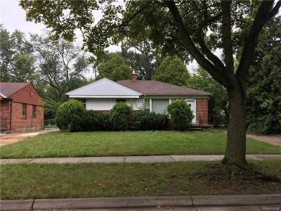Oak Park Single Family Home For Sale: 24241 Ridgedale Street
