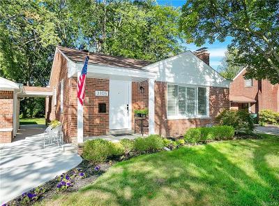 Royal Oak Single Family Home For Sale: 3105 Benjamin Avenue