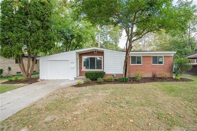 Oak Park Single Family Home For Sale: 14630 Oak Park Boulevard