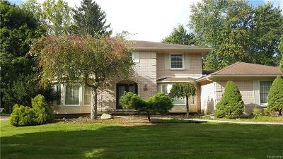Rochester Hills Single Family Home For Sale: 1737 Kilburn Road N