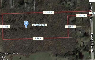 Highland Twp Residential Lots & Land For Sale: Vacant Harvey Lake Road