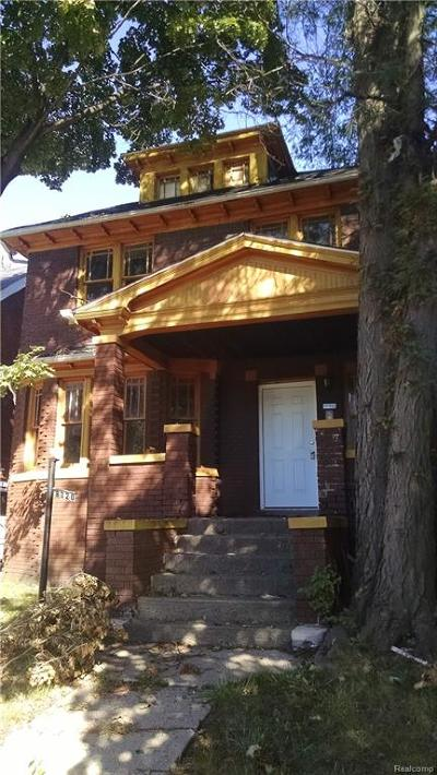 Detroit Single Family Home For Sale: 8320 Townsend Street