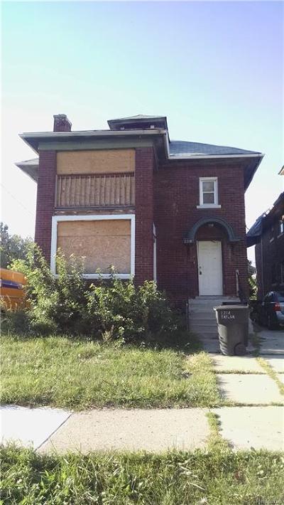 Detroit Multi Family Home For Sale: 2226 Taylor Street