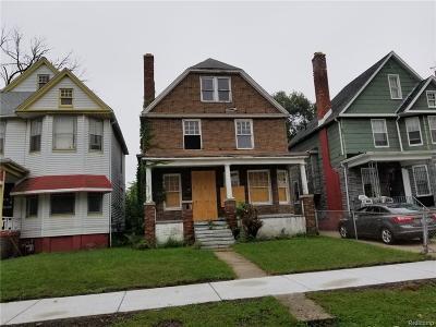 Detroit Single Family Home For Sale: 5329 Seneca Street