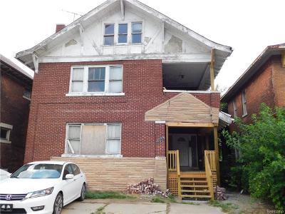 Detroit Multi Family Home For Sale: 1791 W Grand Blvd