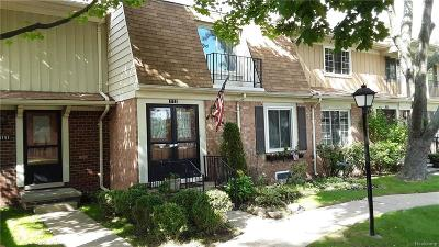 Royal Oak Condo/Townhouse For Sale: 1753 Wickham Street