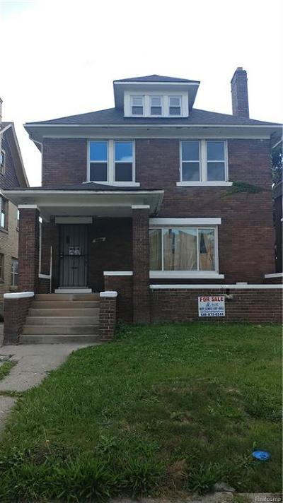 Detroit Single Family Home For Sale: 2535 Atkinson Street