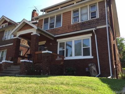 Detroit Single Family Home For Sale: 3779 Gladstone Street