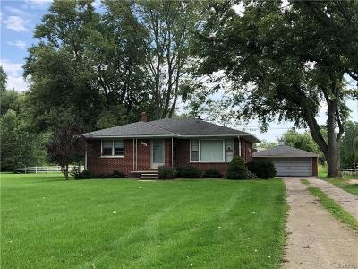 Canton, Canton Twp Single Family Home For Sale: 4843 Denton Road