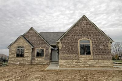 Macomb Twp Single Family Home For Sale: 21955 Chaucer (Lot 103) Court