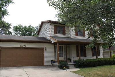 Rochester Hills, Rochester Single Family Home For Sale: 3271 Donley Avenue
