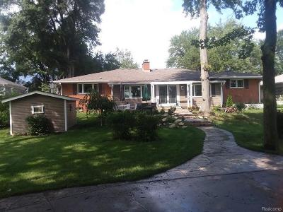 Waterford, Waterford Twp Single Family Home For Sale: 4538 Motorway Drive