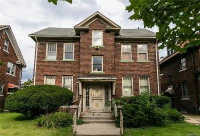 Detroit Single Family Home For Sale: 1724 Seyburn Street