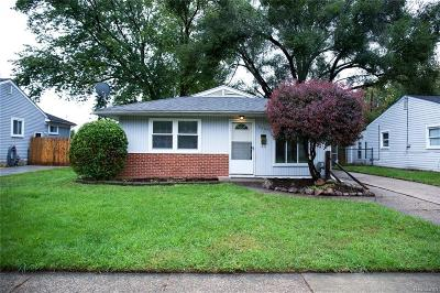 Oakland County Single Family Home For Sale: 26045 Delton Street