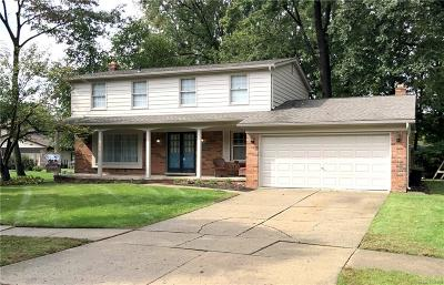 Troy Single Family Home For Sale: 2189 Michele Court