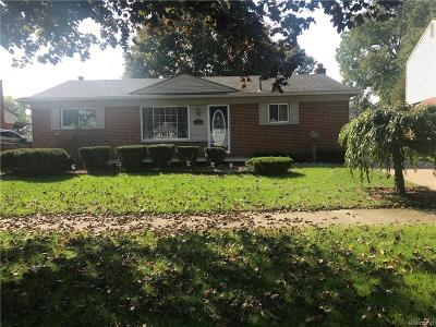 Westland MI Single Family Home For Sale: $169,900