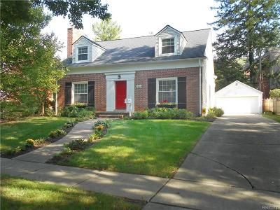 Birmingham, Bloomfield Hills Single Family Home For Sale: 268 Abbey Street