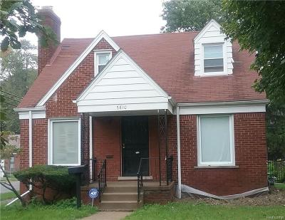Detroit Single Family Home For Sale: 5810 Yorkshire Road