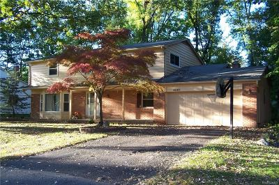 West Bloomfield, West Bloomfield Twp Single Family Home For Sale: 5540 Haverhill Road