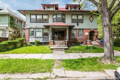 Detroit Multi Family Home For Sale: 1733 Canton Street