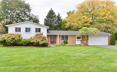 West Bloomfield, West Bloomfield Twp Single Family Home For Sale: 7132 Valleybrook Rd. Road