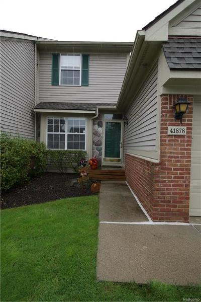 Novi Condo/Townhouse For Sale: 41878 Cantebury Drive