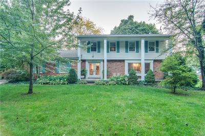Bloomfield Twp Single Family Home For Sale: 2840 Squirrel Road