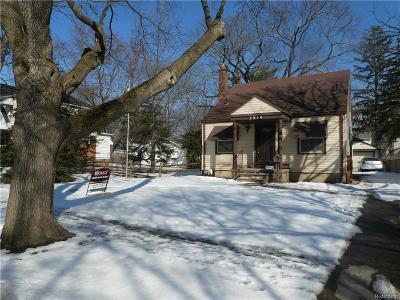 Royal Oak Single Family Home For Sale: 3314 Cummings Avenue
