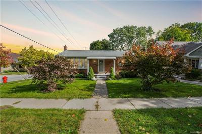 Plymouth Single Family Home For Sale: 796 Ann Street