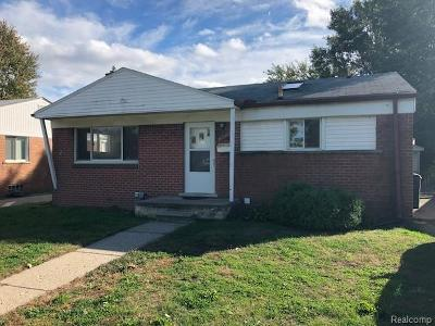 Westland Single Family Home For Sale: 30821 Cherry Hill Road