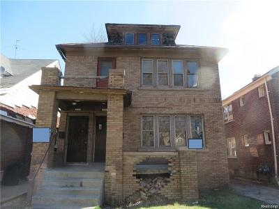 Detroit Multi Family Home For Sale: 5930 Eastlawn Street
