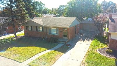 Garden City, Westland, Plymouth Twp, Canton Twp Single Family Home For Sale: 35867 Florane Street