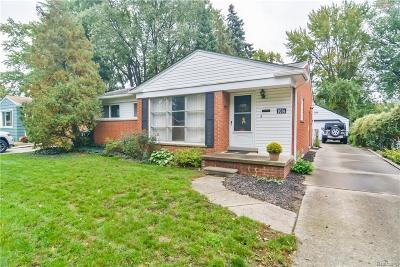 Royal Oak Single Family Home For Sale: 1014 Englewood Avenue