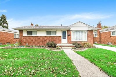 Trenton MI Single Family Home For Sale: $149,900