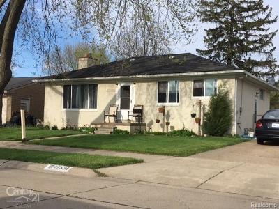 St Clair Shores, Roseville, Harrison Twp, Warren, Clinton Twp Single Family Home For Sale: 27534 Bohn Street
