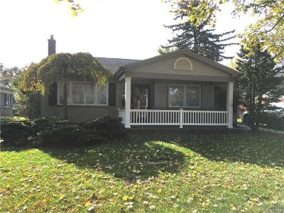 Clawson Single Family Home For Sale: 815 Dreon Drive