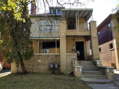 Detroit Multi Family Home For Sale: 2475 Gladstone Street