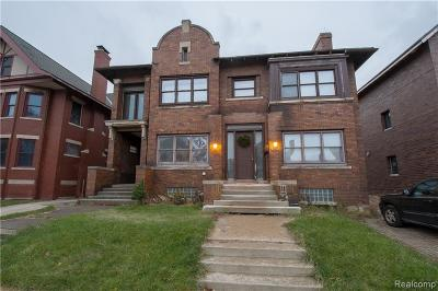 Detroit Multi Family Home For Sale: 296 Eliot Street