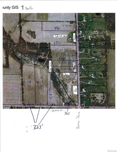 Ray Twp Residential Lots & Land For Sale: 65625 Lot 1 Romeo Plank Road