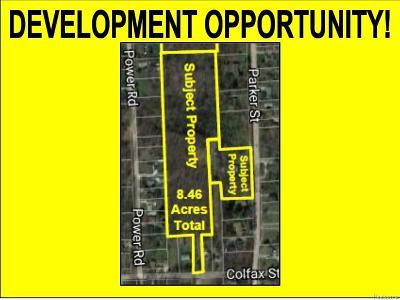 Farmington Hills Residential Lots & Land For Sale: 21505 Parker Street