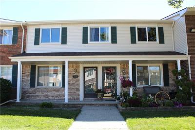 Sterling Heights Condo/Townhouse For Sale: 38171 Jamestown Drive