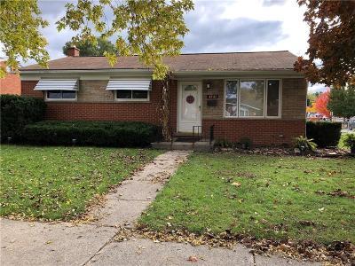 Allen Park Single Family Home For Sale: 4241 Wall Avenue