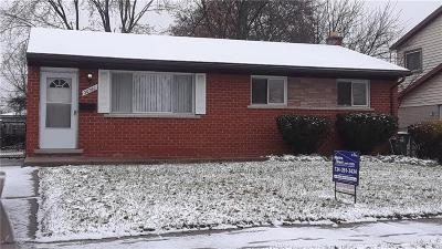 Westland MI Single Family Home For Sale: $114,500